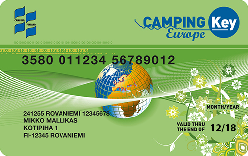 Campning Key Europe -kortti 2018